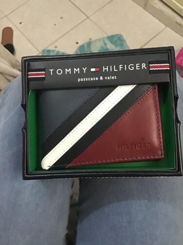 Tommy Hilfiger 0091-5675//02 Men/'s Passcase /& Valet Leather Billfold Wallet Brown