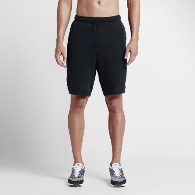 Nike Men/'s SPORTSWEAR TECH FLEECE SHORTS Black 805160-010 c