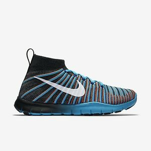 Nike Free TR Force Flyknit Men's Training Shoes Black/Grey/Blue 010 Multi-Sizes