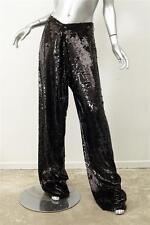 PROENZA SCHOULER $1250 Black Sequin Baggy Karate Wide-Leg Pants M/L NEW NWT