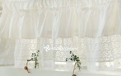 Cafe Roen Valance Curtain (WHITE)  115(W) x 38(L) cm