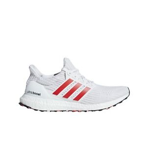 0722d13988cc2 Adidas UltraBoost 4.0 (Cloud White Active Red Chalk White) Men s ...