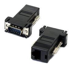 VGA Extender Male To Lan Cat5 Cat5e RJ45 Ethernet Female Adapter Perfect