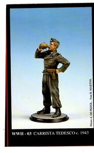 FRIULMODEL WWII-03 - CARRISTA TEDESCO c. 1943 - 54mm WHITE METAL