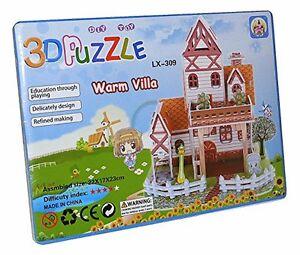 Stadt Villa Haus Spielhaus 3d Kinder Spielzeug Puzzle Puzzlespiel Neu Lx-309 Billigverkauf 50% Puzzles & Geduldspiele