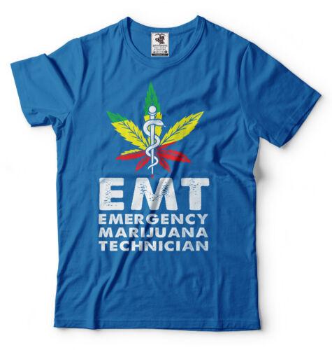 EMT Emergency Marijuana Technician Funny Weed Cannabis Pot T shirt Funny Shirts