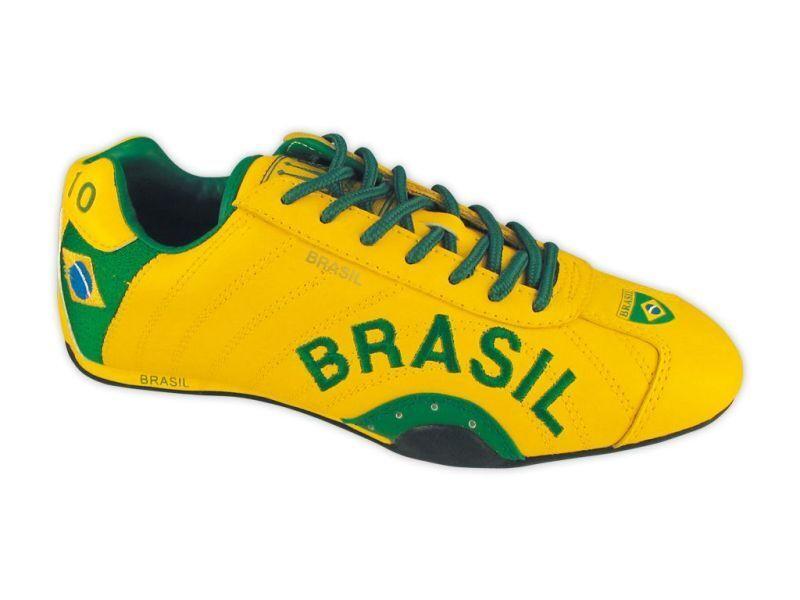 SPOOKS   BRASILIEN  GELB   WM  SCHUHE  LEDER  NEU  Fan Artikel   Grösse : 38