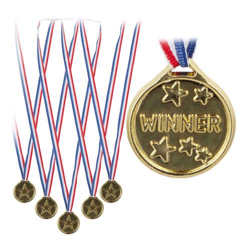 Kindermedaille Deko 192 x Goldmedaille Kinder Plastik Medaille Siegermedaille