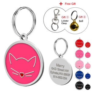 Personalized-Dog-Cat-Cute-Face-ID-Tags-Disc-Pet-ID-Name-Collar-Tag-Engraved-S-L