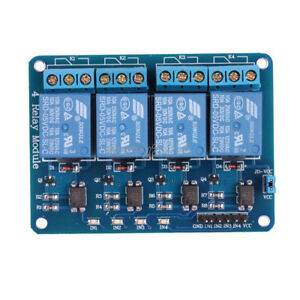 DC 12V 4-Channel Relay Module Optocoupler For Arduino PIC ARM AVR DSP
