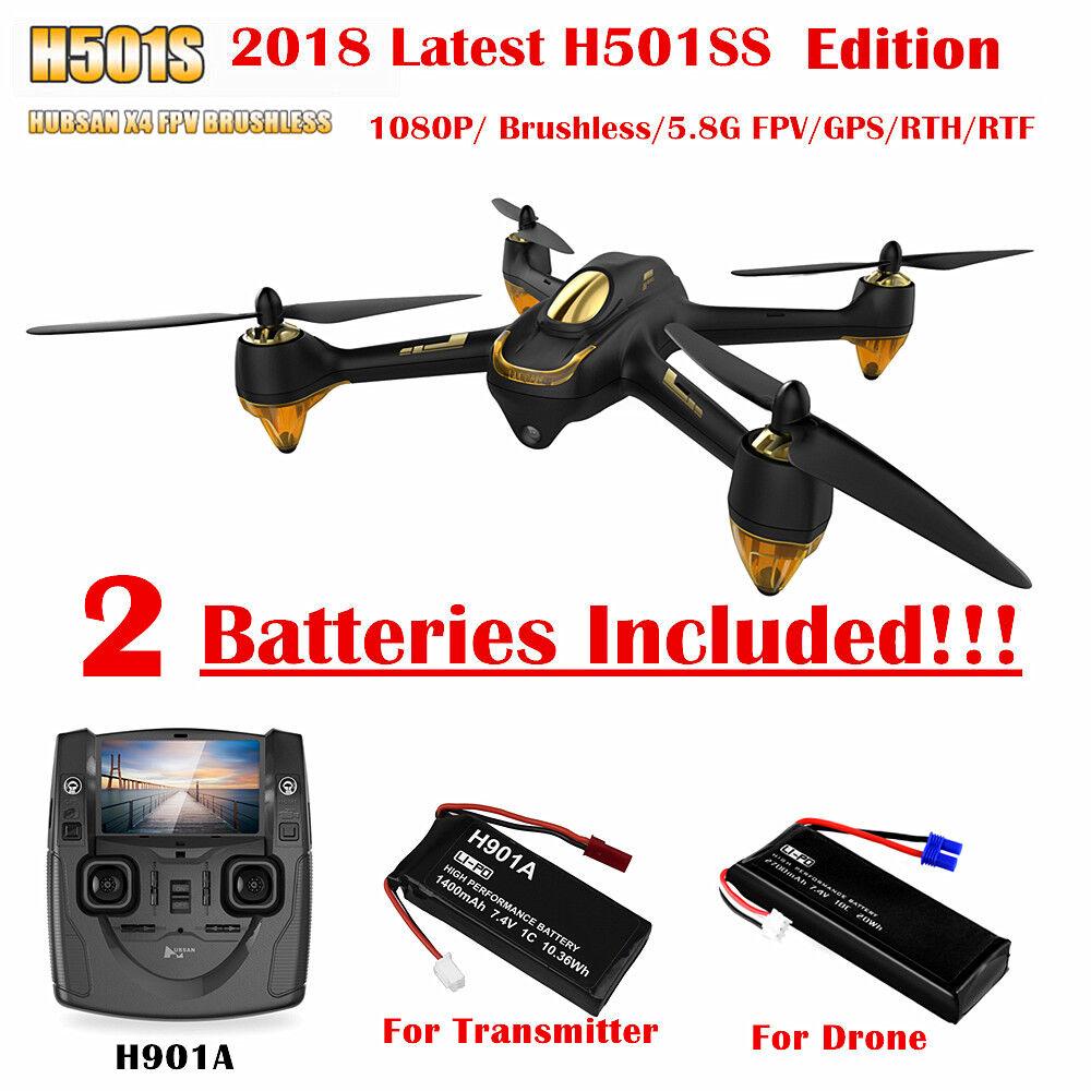 Hubsan X4 H501S S FPV dron Follow me rth GPS Modo sin cabeza nos 1080P Cámara RTF