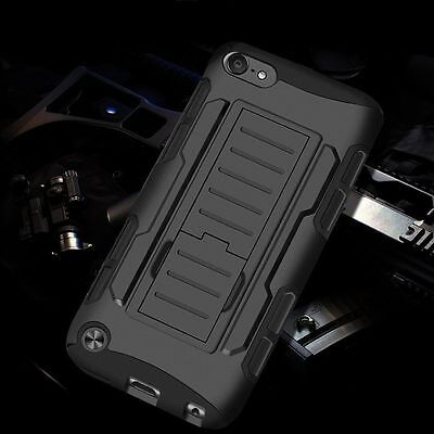 Hybrid Rugged Armor Case Belt Clip Holster Kickstand Hard Cover Silicone Bumper