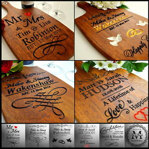 Personalised-Anniversary-Wedding-Gift-Present-25th-30-40-50th-Cutting-Board-Wood