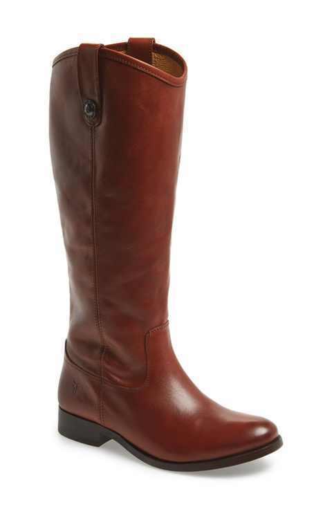 New Frye Melissa Button Cognac Brown Leather Women's Riding Boots US 6 B SALE!