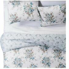 3pc Simply Shabby Chic Floral Duvet Cover Sham Set Aqua Rose King 94 X108 For Sale Online Ebay