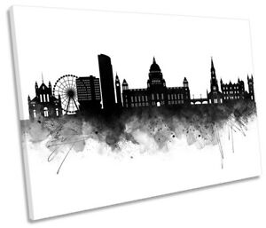 Belfast Abstract City Skyline CANVAS WALL ART Picture Print