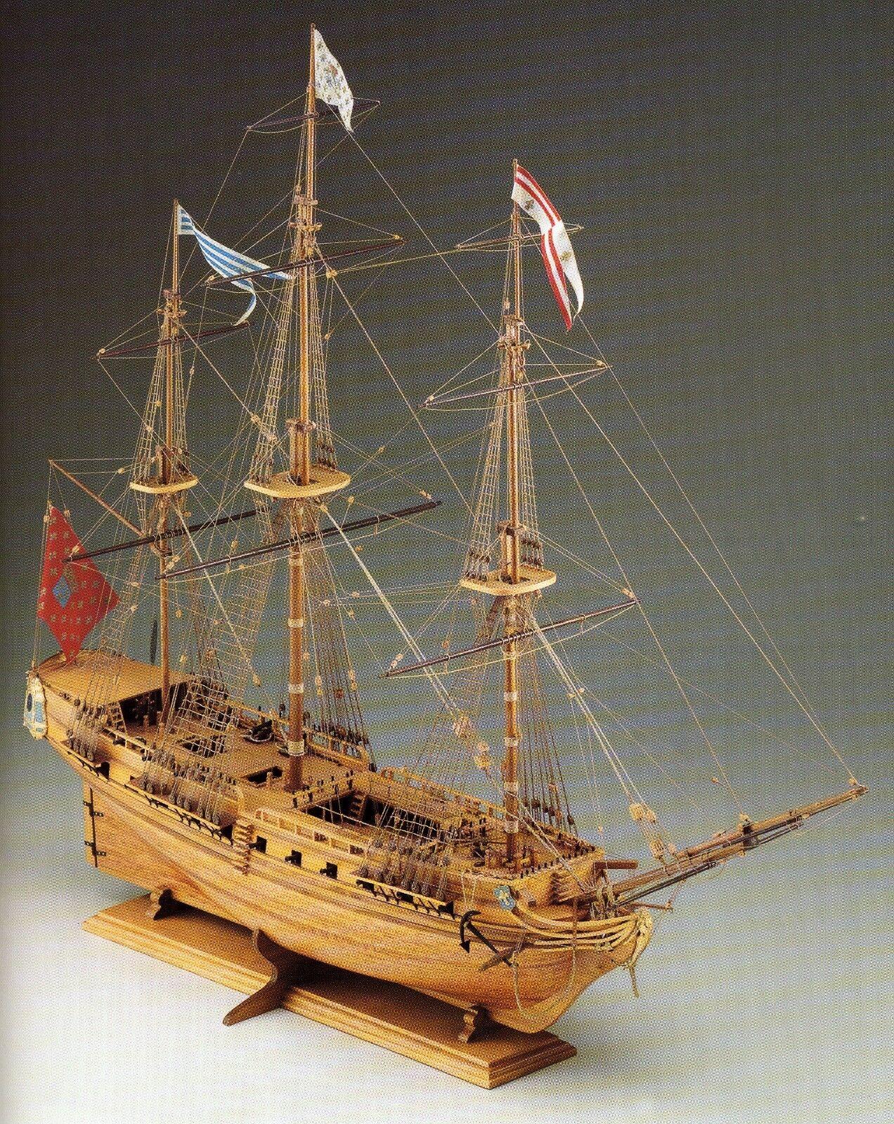 COREL SM14 BARCA Modello imbarcazione Nave SIRENE Fregata francese scala 1 75