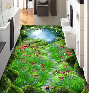 Bosque de hongos 3D 845 papel tapiz de la impresión de parojo murales piso AJ Wallpaper Reino Unido Limón