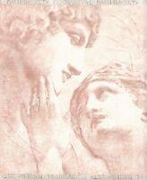 Wallpaper Border Greek, Roman Statuary On Pink Faux