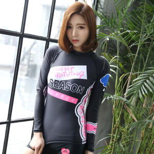 Women-039-s-Rash-Guard-Top-Long-Sleeve-UPF-50-UV-Protection-Siwmsuit-Surfing-Shirt
