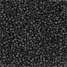 Miyuki Delica Seme Perline 2.2mm Taglia 10/0 MATTE BLACK venduto in tubo 6.8g (j109/8)