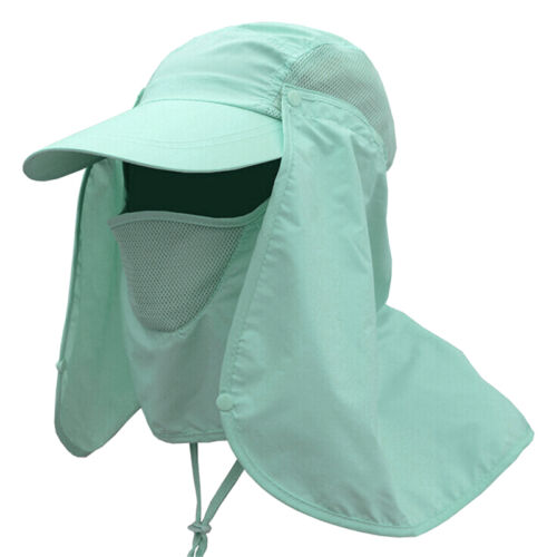 Top Outdoor Sun Shield Neck Face Mask Mesh Floppy Flap Hat Cap Visor Sunbon/_IJ