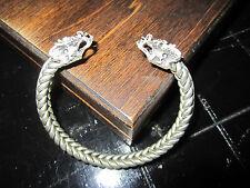Silver Metal Dragon Bracelet Adjustable