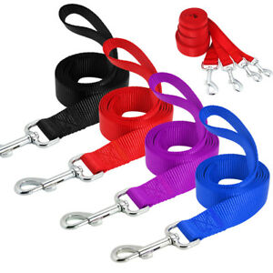 10pcs-lot-4ft-Dog-Leash-Clip-Nylon-Rope-Pet-Walking-Leads-Black-Red-Blue-Purple