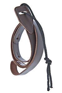 D'Addario Mandolin Strap Brown leather