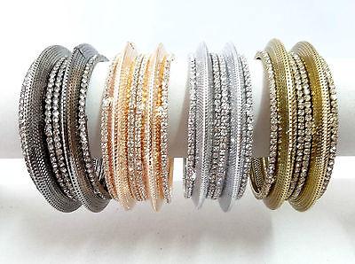 Indian Bollywood Fashion Costume jewelry bangle CZ gold silver bracelet 7185