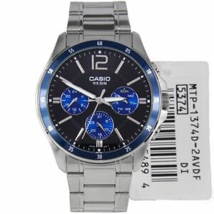 Casio-MTP-1374D-2-New-Original-Analog-Silver-Stainless-Steel-Mens-Watch-MTP1374D