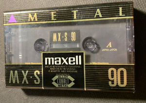 Maxell-MX-S-90-VINTAGE-cassette-blank-tape-sealed-Japan-Type-IV-METAL-NOS