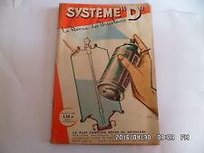 SYSTEME D N°197 MAI 1962 VITRINE ET ETAGERE TABLE PLIANTE PIGEONNIER     G64