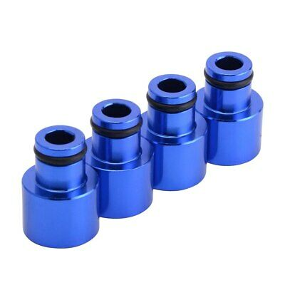 4x RDX Fuel Injector Top Hat Adapters for Honda Acura B16 B18 D16Z D16Y