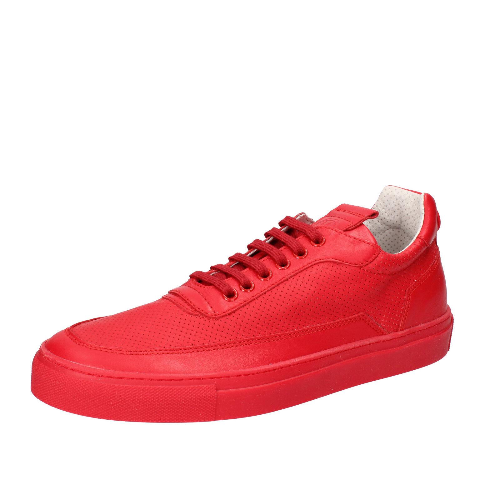 Herren schuhe MARIANO DI VAIO 44 EU sneakers rot leder AB776-G