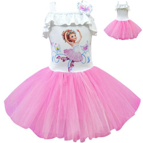 Fancy Nancy Kids Girls Sleeveless Tutu Dress Cosplay Lace Princess Dresses Xmas