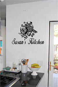Image Is Loading Personalized Kitchen Sign Wall Sticker Wall Art Vinyl