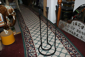 Interesting-Gothic-Medieval-Floor-Standing-Candelabra-Iron-Steel-Holds-3-Candles