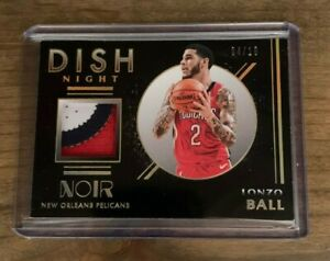 2020-PANINI-NOIR-LONZO-BALL-DISH-NIGHT-3-COLOR-PATCH-RELIC-SP-10-PELICANS