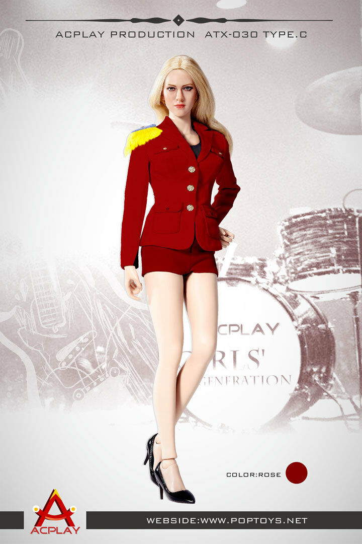 ACPLAY 1 6 Lady Girls' Generation Uniform Red for Phicen, Very Cool Figure 30C