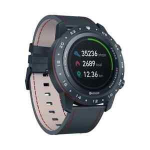 Smart Watch - Herzfrequenz-Blutdruckmessgerät Italienisches Vacchetta-Armband