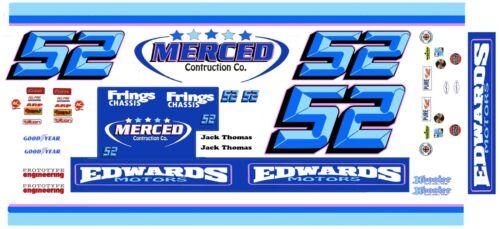 1//25th Scale Decals NASCAR #52 Jack Thomas  Edwards Motors 1//24th