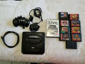 Sega-Genesis-Model-2-w-10-Games-Controller-Cables-Pre-Owned