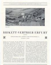Erfurt  alte Werbung Brikett-Vertrieb Erfurt Grube Paul I Braunkohle 1927 Litho