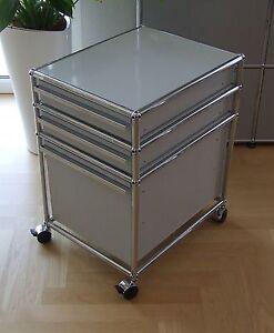 usm haller rollcontainer mit hr in lichtgrau 29 7035 ebay. Black Bedroom Furniture Sets. Home Design Ideas