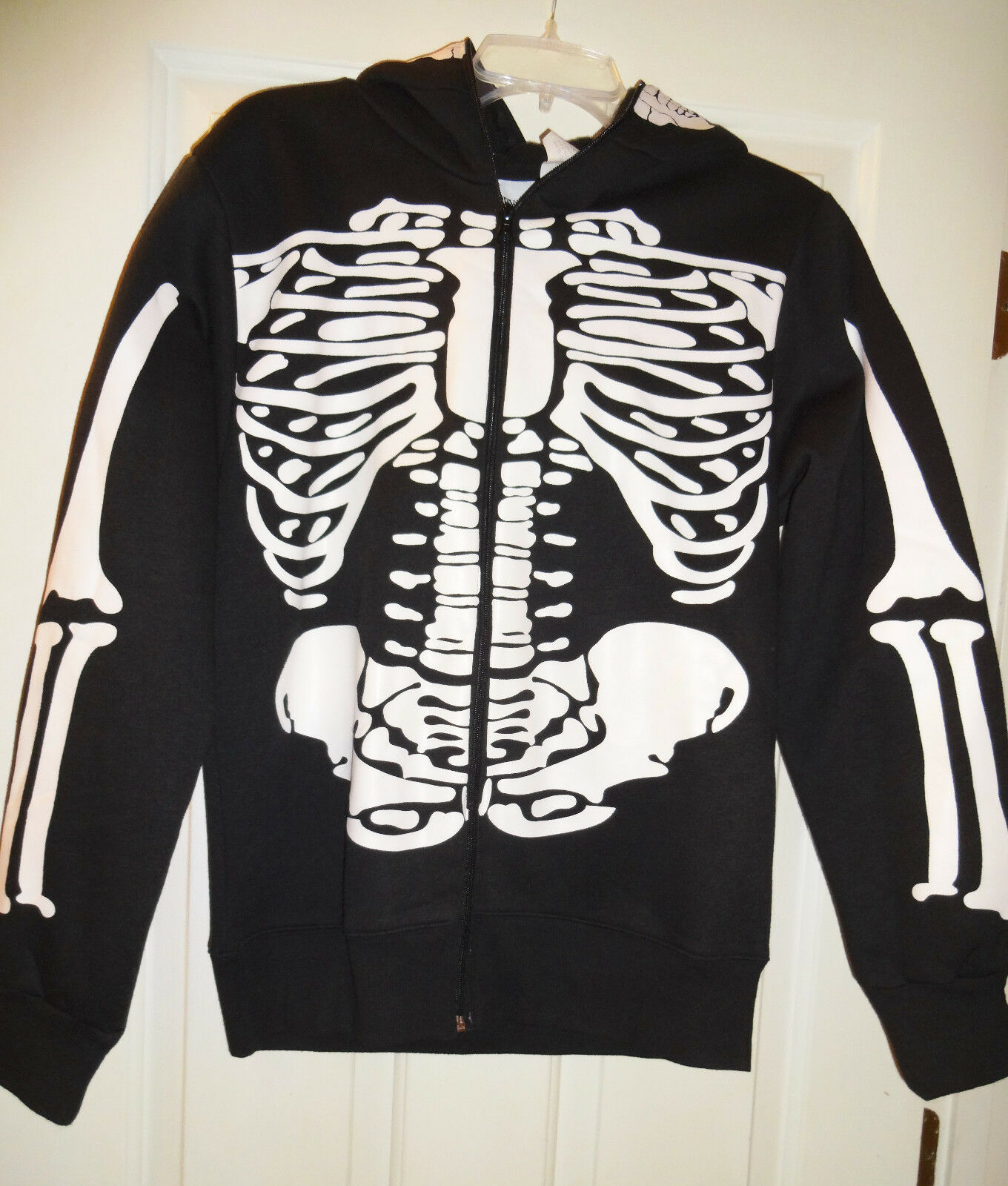 Charades Halloween Costume Adult Women's Skeleton Hoodie with Skull Face Mask XL