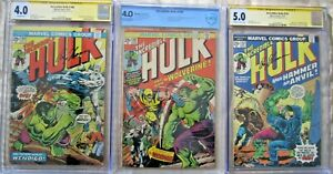 The-Incredible-Hulk-180-181-182-Cgc-5-0-Firmado-Roy-Thomas-1ST-Wolverine
