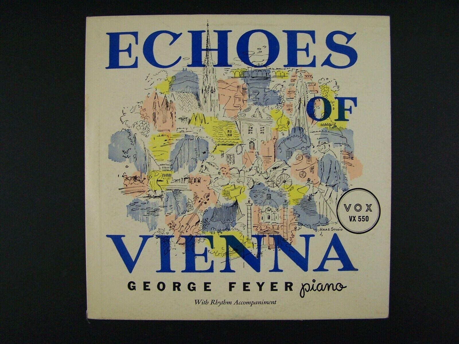 """George Feyer - Echos De Vienne 10"""" Vinyl Record VX-550"""