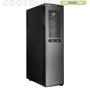Cookology Dual Zone 18 Bottle Thermoelectric Wine Cooler, Less Noise & Vibration