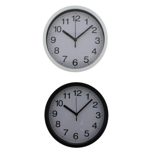Bürouhr Küchenuhr Wanduhr Ø23cm mit Sekundenzeiger Quarzuhr Uhr Bahnhofsuhr